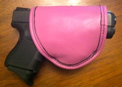 Pretty Dangerous Accessories Duty Rose Leather Holster with Glock 26