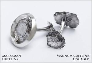 Hot Caliber flattened bullet cufflinks