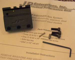 AR-15 JP Adjustable Gas Block System Installation
