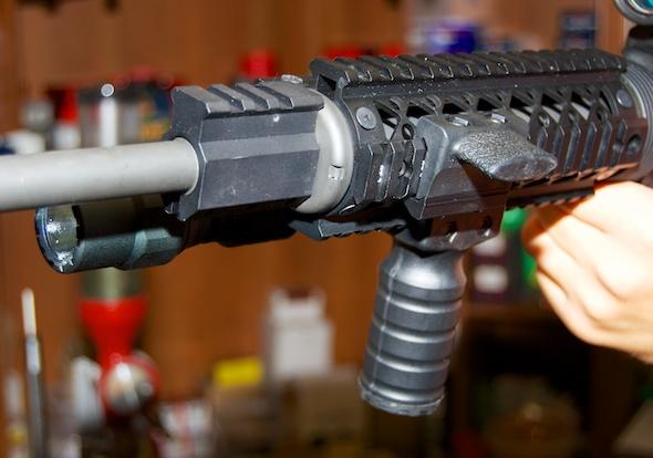 Blackhawk Light Mount and Legacy Tactical Light position