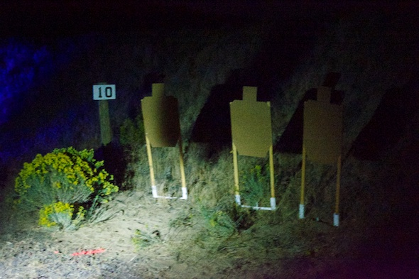These targets are about to get perforated by a full-auto FN SCAR.