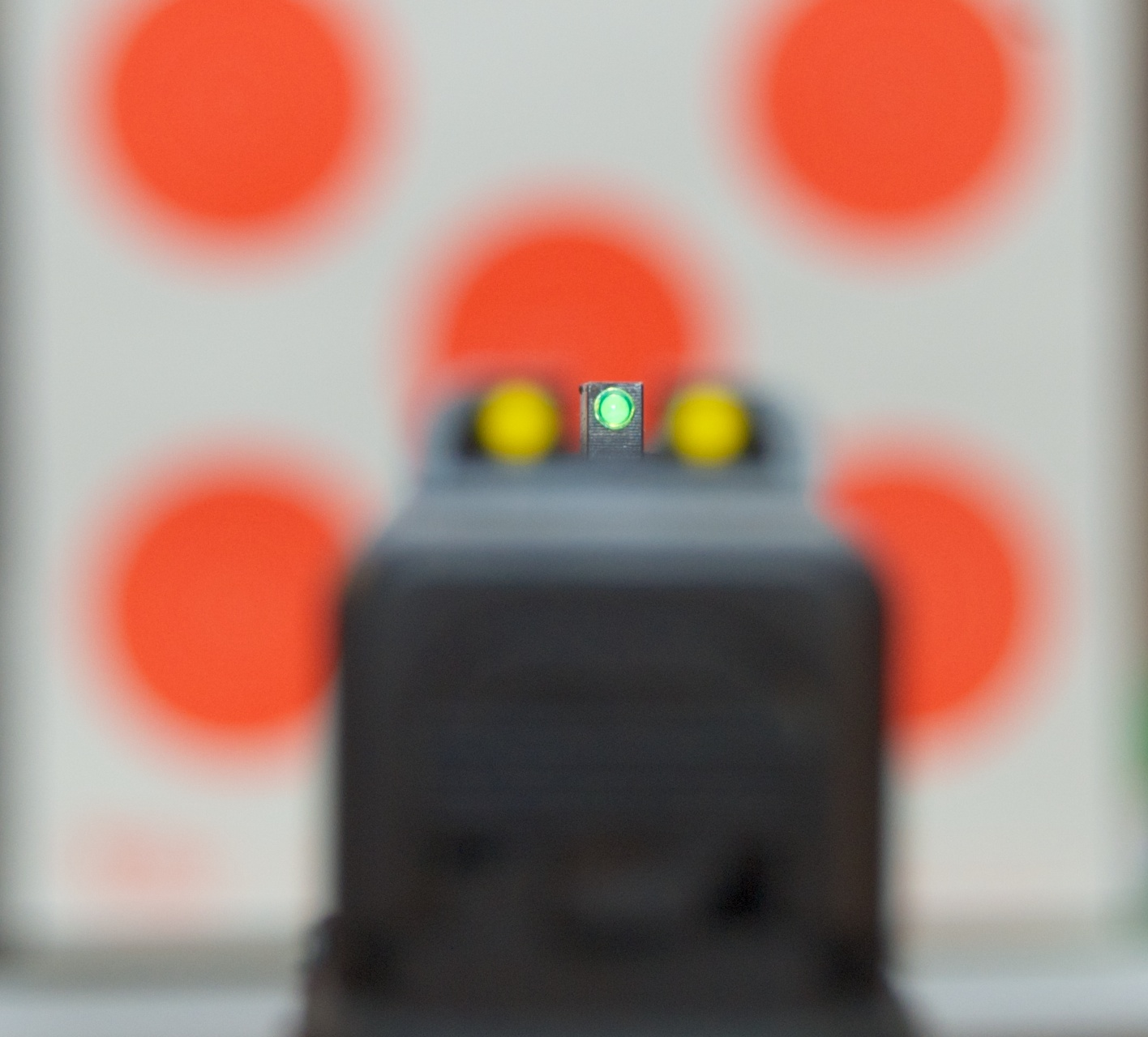 All is right in the world when the front sight is in focus.