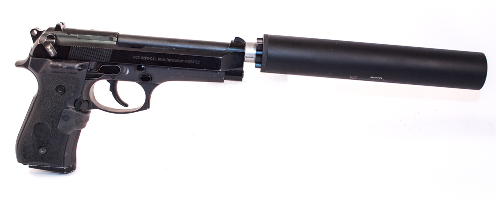 Here's a happy combination: a Beretta 92FS and SilencerCo Octane