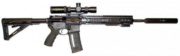 "Here's a slightly ""geared up"" Daniel Defense DDM4v5 300 Blackout."