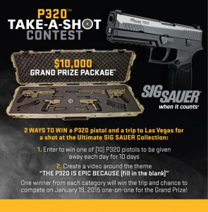 Sig Sauer Take a Shot Contest