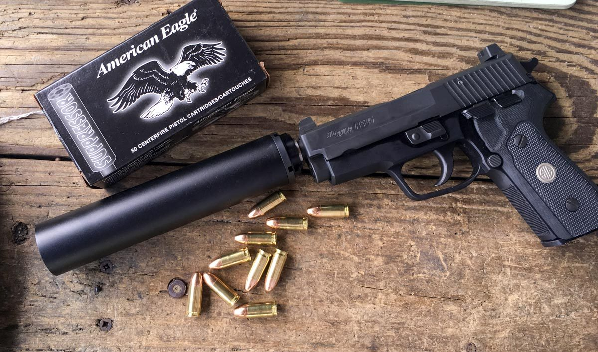 This Griffin Armament Resistance 9 was a great pairing for the new Sig Sauer P225 A1 threaded model.