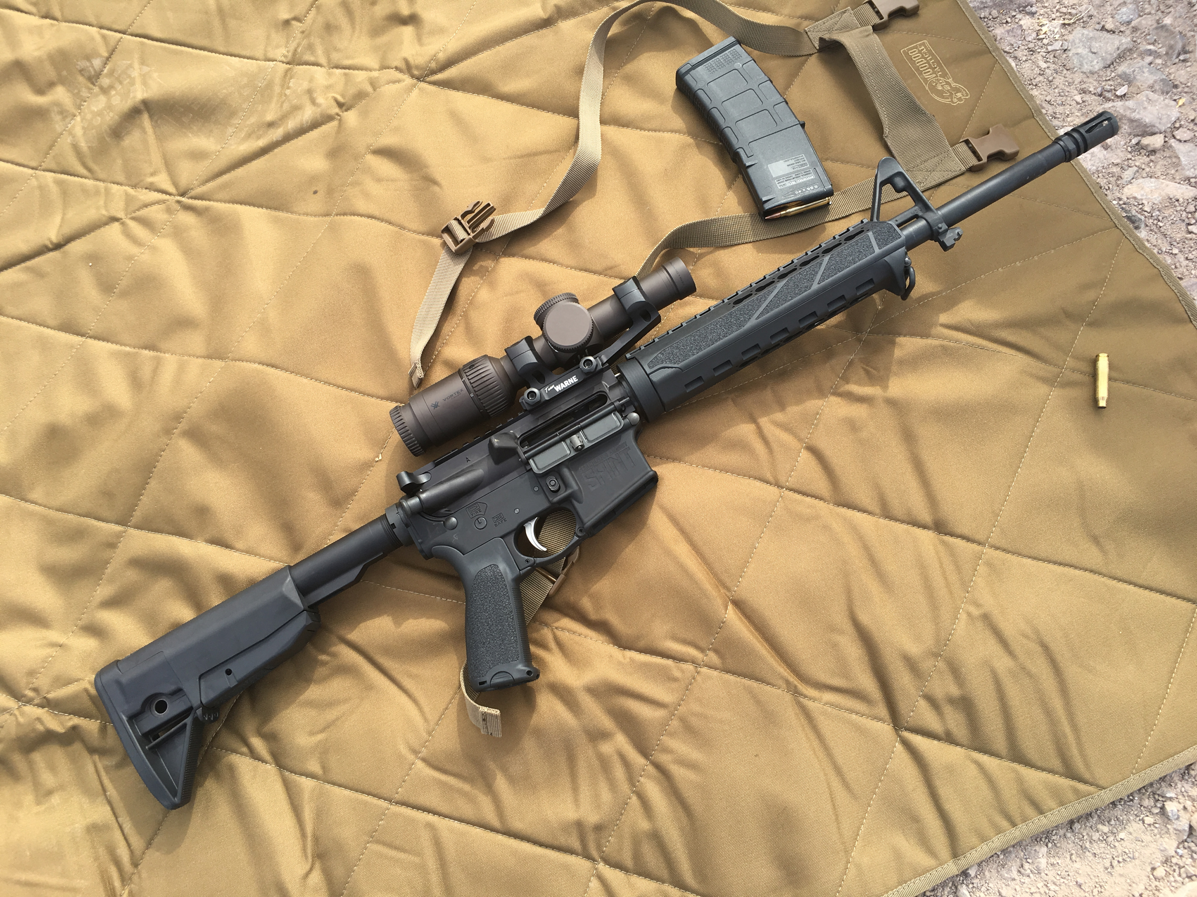 The new Springfield Armory SAINT AR-15, shown here with a Bushnell Elite SMRS scope.