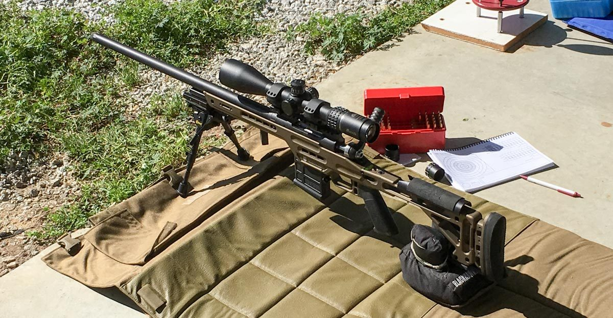 This Masterpiece Arms BA Lite PCR rifle chambered in 6.5 Creedmoor is built for long range use.