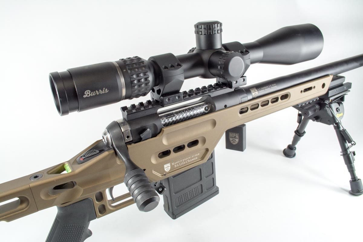 The Burris VeracityScope on this Masterpiece Arms rifle uses minute of angle turrets marks. How does that help simplify accounting for bullet drop?