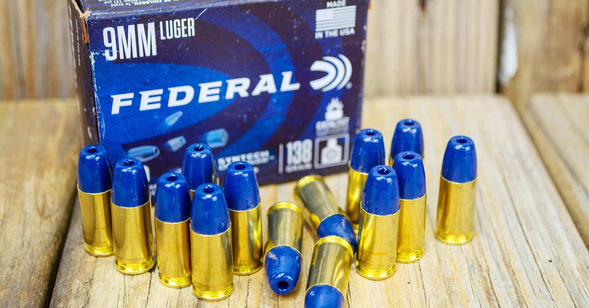 Federal's new Syntech Defense ammo in 9mm.